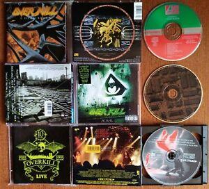 OVERKILL - I HEAR BLACK + W.F.O. + WRECKING YOUR NECK LIVE 3 CD 1st EURO PRESS