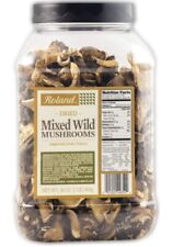 Roland Foods Dried Mixed Wild Mushrooms Specialty Imported Food 1-Pound Tub