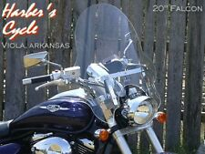 "Suzuki M50 Boulevard - TALL/LARGE/BIG/WIDE Clear 20"" Falcon Touring Windshield"