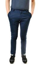 Eleven Paris Para Hombre Elegante Casual Pantalones Chaplin Entallada Azul Talla 31 BCF65