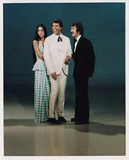"SONNY and CHER PHOTO with JERRY LEWIS PHOTO 10"" x 8"" (20cms x 30cms)"