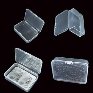5/10Pcs Mini Clear Plastic Small Box Hook Jewelry Earplugs Container Storage