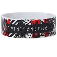 21 Twenty One Pilots Blurryface Logo Rubber Bracelet Wristband Licensed Jewelry
