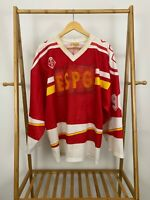 VTG Tackla CCCP Russia Pavel Bure #90 Hockey Jersey L Red Soviet Union *Altered