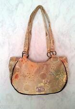 Sac À Main Pour Femmes Asie Style Aspect tissu en soie Goldfarbend 31 cm