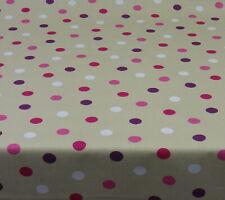 Baumwolle Tischdecke Meterware abwaschbar, beige mit Punkt 226-2128