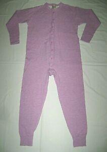 L. L. Bean Pink Cotton-Wool Blend Double Layer Union Suit size M
