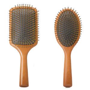 Premium Hair Brush Wooden Paddle Detangler Hair Comb Large Enough Smooth Sturdy