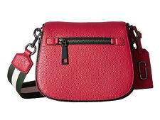 NWT $375 Marc Jacobs Gotham Small Nomad Saddle Bag Raspberry