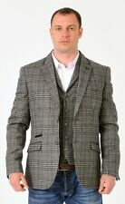 Grey Tweed Jacket & Vest wool mix new line sale price £129 NOW £99 To Clear £79