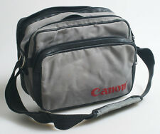 VINTAGE CANON BAG GREY/RED WITH STRAP