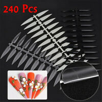Long Sharp Color Card Manicure Practice Display Tools False Nail Art Tips