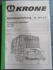 Krone Kurzschnitt - Ladewagen XXL - RGL , 4XL - RGL Betriebsanleitung
