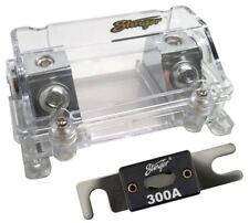 Stinger Shoc-Krome 0 Gauge 1/0 AWG Inline Power Fuse Holder w/ 300 Amp ANL Fuse