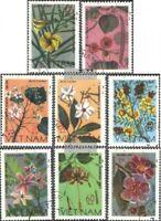 Vietnam 919-926 (kompl.Ausg.) gestempelt 1977 Wildwachsende Blumen