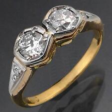 Vintage Toi et Moi DIAMOND 18k Solid Yellow GOLD ETERNITY RING Val=$3090 Sz H