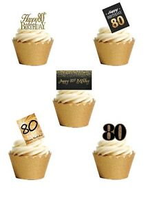 21 Stand Up 80th Birthday Eighty Age 80 Edible Wafer Paper Cake Toppers
