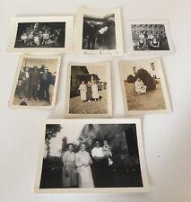 LOT OF 7 VINTAGE BLACK & WHITE PHOTOS FAMILY CHILDREN 40's -50's
