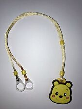 Hearing Aids  safety Leash, RETAINER CORD CLIP - 2 Sided (Yellow Poo)