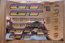 Reproduction 1996 GT Performer BMX Decal Set - Chrome Backing