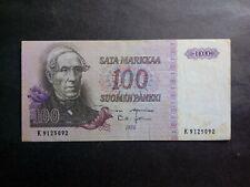 FINLAND 100 MARKKAA 1976 BANKNOTES