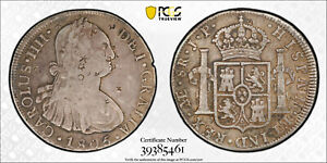 PCGS VF 1805-L JP Peru 8 Reale Calico-662 (with interesting chopmarks)