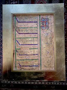 persian mozaffar al din shah qajar firman signed and stamped By The King Ghajar