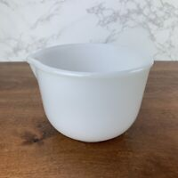 Vintage Glassbake White Milk Glass Mixing Bowl with Spout Made for Sunbeam 20 CJ