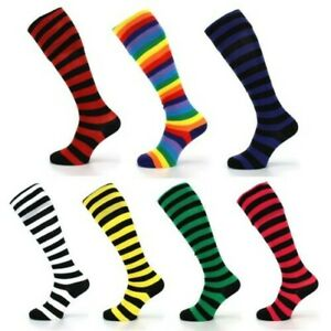 Long Knee High Striped Socks LoudElephant Wellies Boot Liner Stockings Stripy