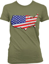 USA Eagle Crest - American Pride US Flag Red White and Blue Juniors T-shirt