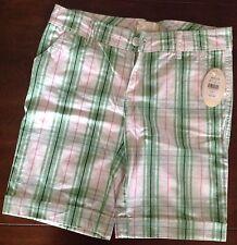 NEW Outlooks Shorts Sz 5 Bermuda Green & Pink Plaid Woman MSRP 29.99