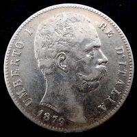 Moneta 5 lire Umberto I  1879    ( 1076 )
