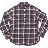 J. Crew Mens Medium Purple Grape Plaid Flannel Button Front L/S Shirt 93056