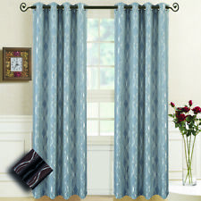 Regalia Jacquard Textured Window Curtains, Set of 2 Abstract Grommet Top Panels