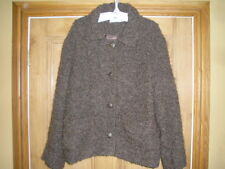 AVOCA JACKET, UK 14, METAL BUTTON FRONT, WOOL/MOHAIR MIX, FABULOUS QUALITY