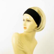 Stirnband Perücke kurze golden blond Docht sehr hellblond ref: Amanda 24bt613