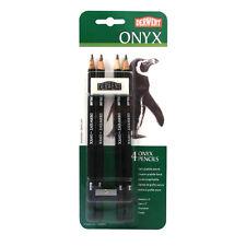 Derwent Onyx Graphite Pencil Set Pack of 4 with Sharpener and Eraser