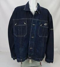 VTG Johnny Blaze Button Up Denim Jean Trucker Jacket Blue Men's XXL
