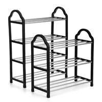3/4 Tier Home Storage Organizer Cabinet Shelf Space Saving Shoe Tower Rack  HO