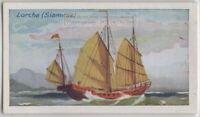 Siamese Lorcha Sailing Boat  85+ Y/O Trade Ad Card