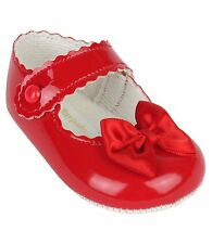 8b1dd6402 Babyprem Bebé Niña Zapatos de Cochecito Baypods Blanco con Rosa Rojo antes  Antar