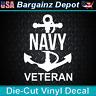 Vinyl Decal.. NAVY VETERAN.. US Military Vet Anchor Ship Car Boat Laptop Sticker
