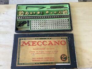 Meccano Set 2A circa 1911,American-80% complete.