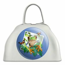 Tree Frog Selfie Picture Rainforest White Metal Cowbell Cow Bell Instrument