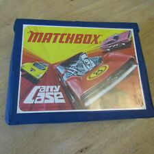 MATCHBOX SUPERFAST 1971 CARRY CASE WITH 4 TRAYS IN GOOD CONDITION