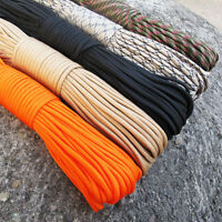 Parachute Cord 33ft 10m Paracord Lanyard Rope Mil Spec Type III 7 Strands Ropes