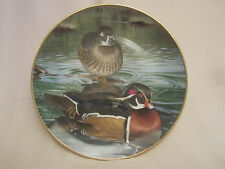 CAROLINA WOODDUCKS collector plate TREVOR BOYER Waterfowl Duck KAISER