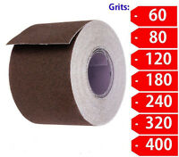 "2"" Wide Emery Cloth 10ft Roll, Emery Roll, Cloth Back- Choose Your Grit"