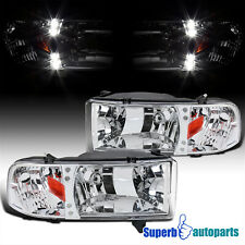 For 1994-2001 Dodge Ram 1500 2500 3500 Led Crystsl Headlights Lamps Pair (Fits: Dodge)