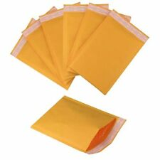 (50) 4x8 #000 Kraft Bubble Mailers Envelopes and (50) 3x4 Poly Ziplock Bags